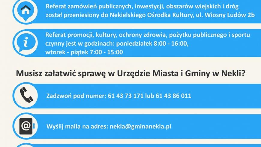 Informacja o funkcjonowaniu Urzędu Miasta i Gminy Nekla