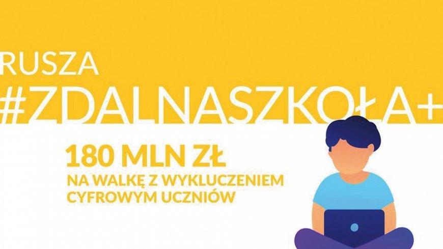 """Plakat """"Rusza zdalna szkoła"""""""