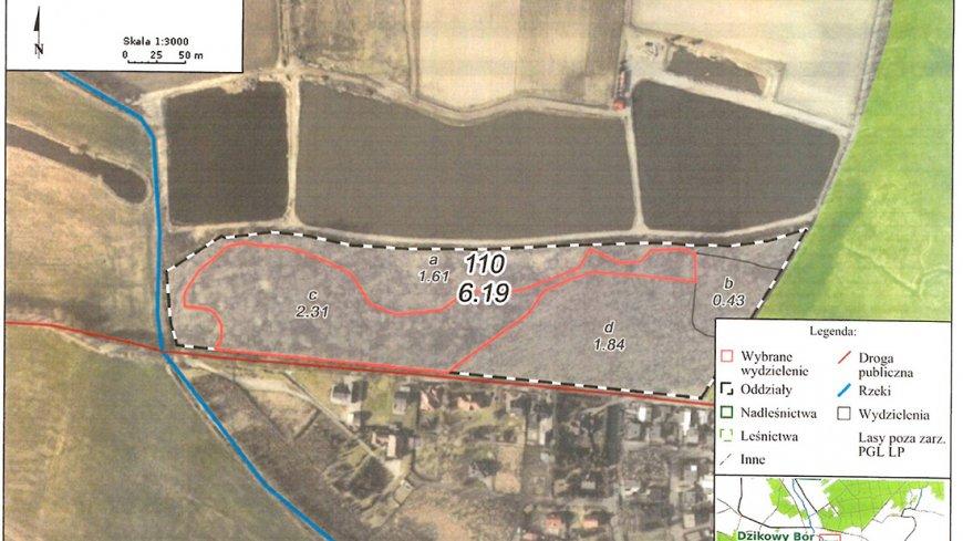 Mapa utrudnień w rejonie ulicy Parkowej w Nekli